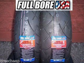 Two Tire Motorcycle Set 130 90 16 Front 170 80 15 Rear Full Bore Tour