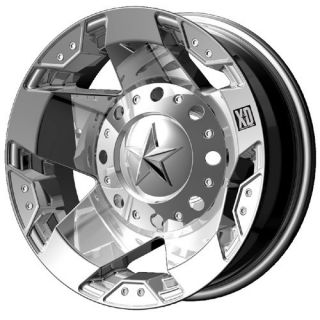 16x6 XD Rockstar Dually Chrome Wheels Front Rear Set 8x170 99 04