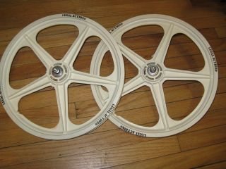 BMX Old School Mag Wheelset White 20 Bike Bicycle Wheels