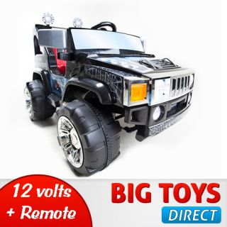 RC BATTERY POWER KIDS RIDE ON HUMMER JEEP CAR W BIG WHEELS R C REMOTE