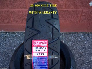 170 80 15 Rear Premium 20 000 Mile Kenda K673 Motorcycle Tire Free