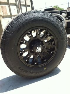 17 Black Rims Tires 8x170 Ford F250 Excursion Falken at Lt 265 70 17