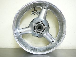 Suzuki Hayabusa 1300 busa Rear Wheel Spoked Rim Chrome Straight