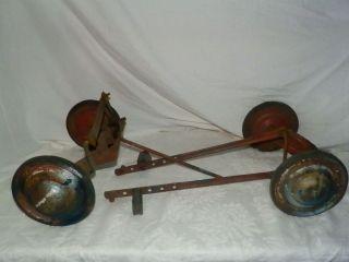 Vintage Murray Pedal Car Parts Lot Wheels Tires Hubcaps Pedals