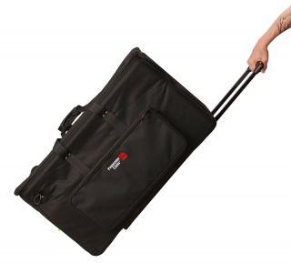 EKIT3616 BW Rolling Large Drum Bag w Roller Wheels Divider New