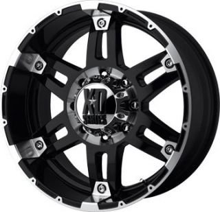 18 XD Series XD797 Spy Wheels ires Offroad Black Rims