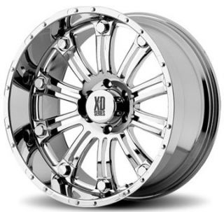 17 inch XD795 Hoss Chrome Offroad Truck Rims Wheels Nitto Tires