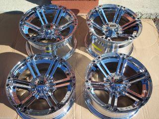ITP SS212 Chrome Aluminum ATV Wheels New Set 4 Life Warranty