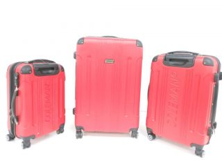 Travelers Choice Torino 3 Piece Hard Case Luggage Set Expandable Brick