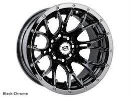 DWT Diablo ATV Wheel Black Chrome 14 14x6 4 2 4 156 Polaris RZR 08 09