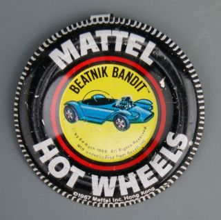 180 Original 1967 Hot Wheels Pin Badge for Beatnik Bandit Redline