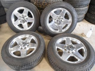 2012 Chevy 2500 20x8 Polished Wheels 8x180 Goodyear Tires 2