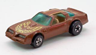 RARE Vintage Hot Wheels 1980 Hot Bird Brown