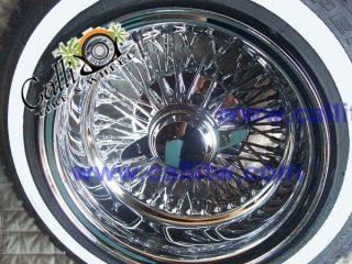 72 Spoke Cross Laced Chrome Wire Wheels 13x7 Deep Dish TIRE PACKAGE