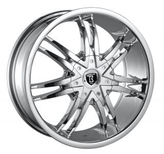 20 inch Borghini B14 Chrome New Wheels Tires Fit 300 Magnum