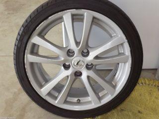 2011 Genuine Lexus IS250 IS350 18 silver alloy rim wheel front piece