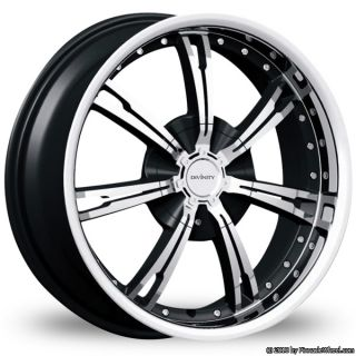 Divinity Racing D60 5X114 3 100 Black Wheels 5 Lug Camry RIMS ONLY