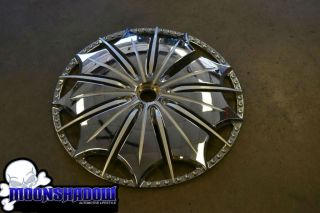 MHT DUB PRESIDENTIAL SPINNER FACE WHEEL RIM DUB S79324 PARTS INSERTS