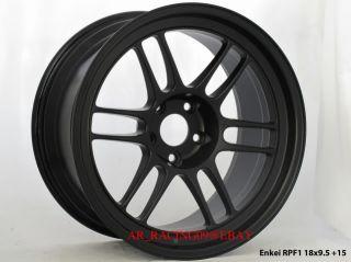 18 Enkei Wheels RPF1 18x9 5 Black G35 G37 240sx STI