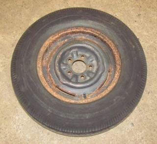 Chevy 15x5 Original Wheel Tire US Royal 6 70 15 Rim Spare