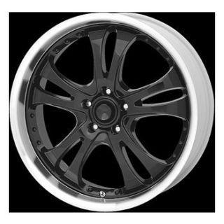 16x7 American Racing Casino Black w Machined Face and Lip Rims