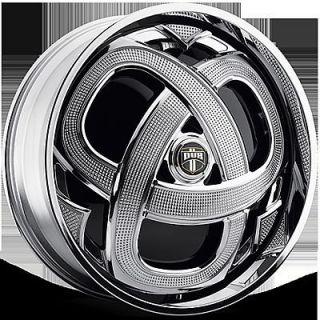 Markee Wheel Set Chrome Spinner 24x9 0 rwd 5 6 Lug Rims 24inch