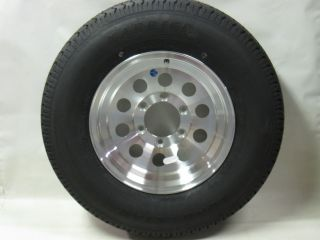 225 75R15 LRE 10 Ply Kenda Trailer Tire on 15 6 Lug 03 Aluminum