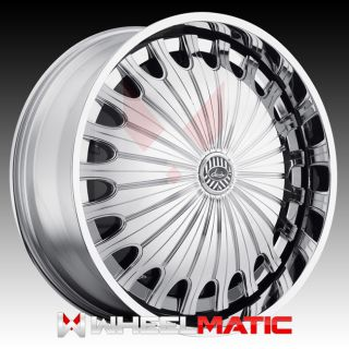 New Davin Spinners Sham 28x10 Blank 5X 6X 10 Wheels Rims Chrome