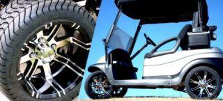 12 x 7 Aggressor Golf Cart Car Rim Wheel EFX 225 35 12 Tires