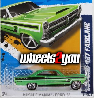 2012 Hot Wheels ** 66 FORD 427 FAIRLANE ** Case J ** Green NEW