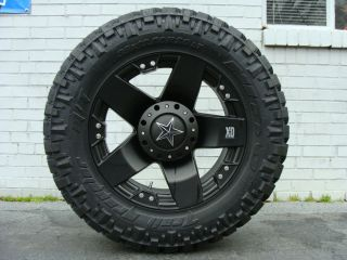 20 XD Rockstar Black 295 55R20 Nitto Trail MT 33 Mud Tires Dodge