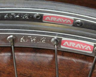 Vinrage OLD SChoOl BMX 26 ARAYA 7X rims front rear hub SR hubs Cruiser