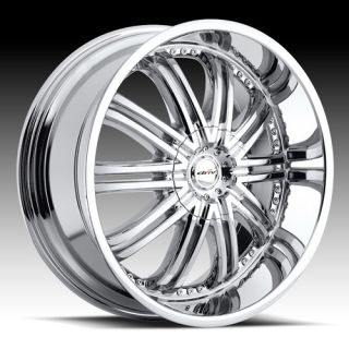 22x8 5 ENTOURAGE 5x4 5 Chrome 5x120 Single 35 Replacement Wheel RIM