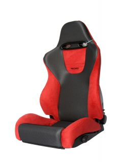 Recaro Sport Red Black Driver Passenger Car Seat