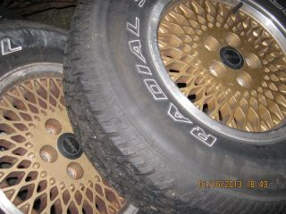 Jeep Rims and Tires 5 Lug P235 R75 15