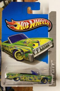 HOT WHEELS 2013 TREASURE HUNT HW CITY 36 250 64 LINCOLN CONTINENTAL WW