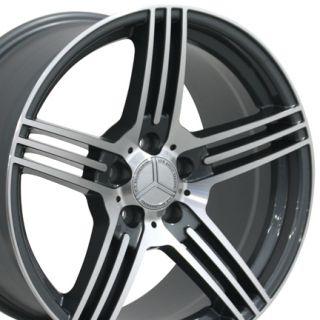 18 8 5 9 5 Gunmetal AMG Wheels Set of 4 Rims Fit Mercedes C E s Class