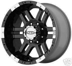 16 Inch Black Wheels Rims MO951 8 Lug Chevy Dodge Ram 2500 Ford F250