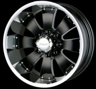 Yukon Avalanche GMC Tundra 18 Mazzi Wheels Rims Black