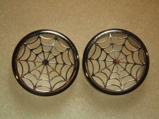Ear Tunnels Flesh Plugs Spider Web Screw Back Steel