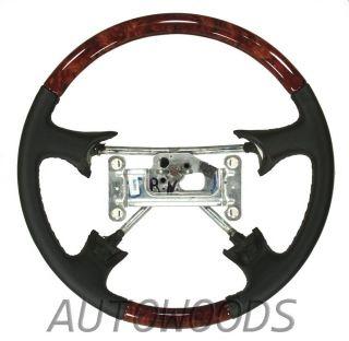 1996 1997 Silverado Suburban Sierra Burl Wood Black Leather Steering
