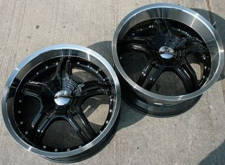 RVM 930 20 Black Rims Wheels Nissan 350Z Staggered