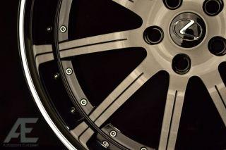 20 inch Lexus GS300 gs350 GS430 Wheels Rims RW3 Black CL