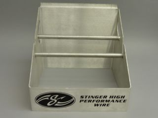 STINGER WIRE CABLE SPOOL ALUMINUM RACK HOLDER DISPENSER STORE DISPLAY