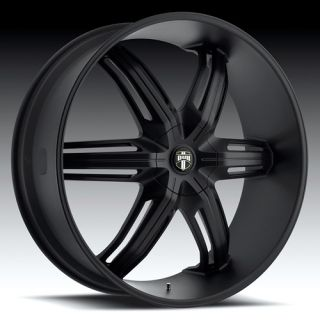 Drone 6 Wheel SET 28x10 Matte Black Rims for RWD 6 LUG Vehicles 28inch