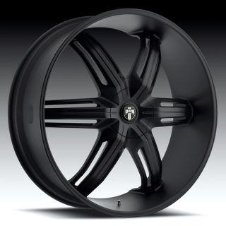 Drone 6 Wheel SET 28x10 Matte Black Rims for RWD 6 LUG Vehicles 28inch