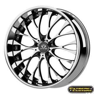 20 x8 5 Lorenzo WL027 Chrome 5 Lug One Single Wheel Rim