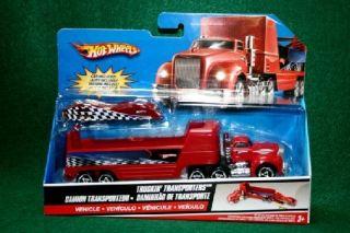 Hot Wheels Truckin Transporter with Race Car