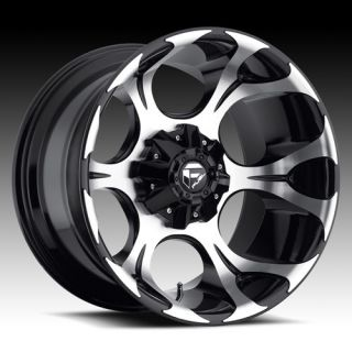 20x10 MHT Fuel Dune D524 Gloss Black Machined Wheels 4 New Rims