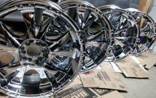 20 Chrome Wheels BZO Big Boss II Rims 20x8.5, 6 lug universal, Mint